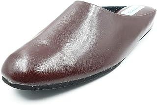 ADAVY - Scarpe da casa classiche, in pelle, colore: marrone (confezione da 6)