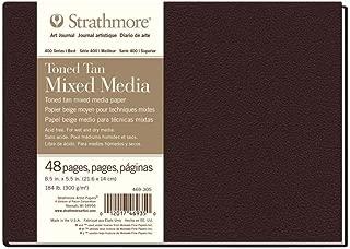 Strathmore (469-305 400 Series Hardbound Toned Tan Mixed Media Art Journal, 8.5