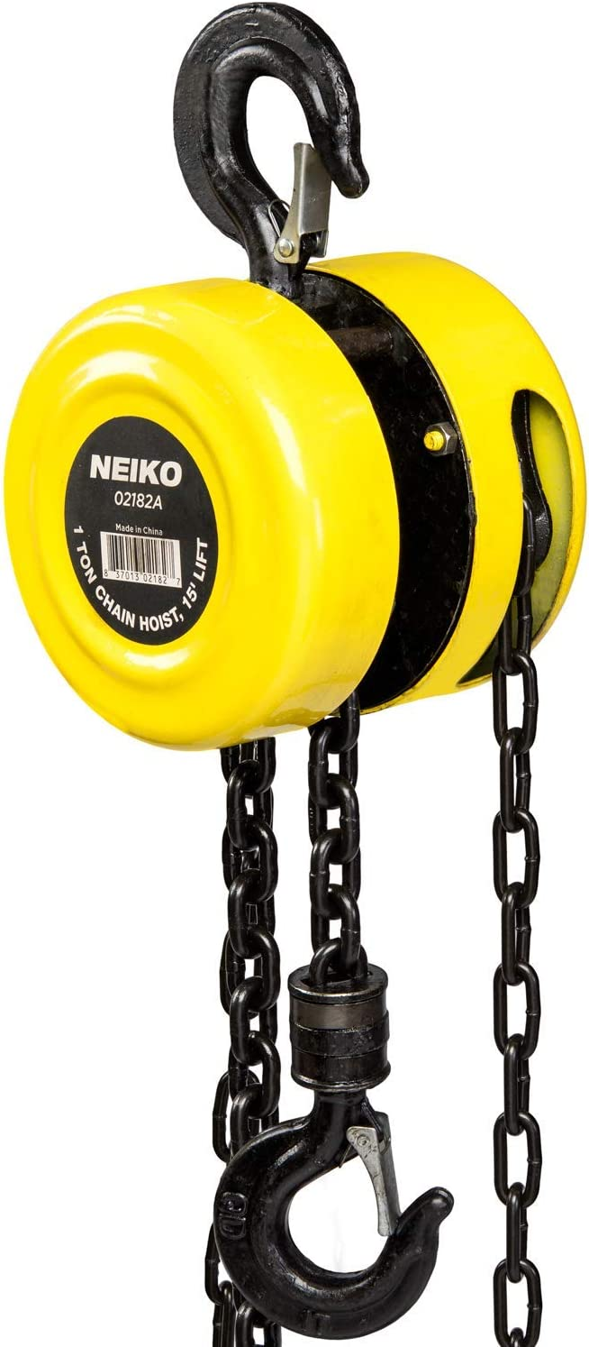 NEIKO 02182A Manual Chain Hoist 1 It is very popular Capacity Limited time cheap sale Ton 15â 2000 Lbs