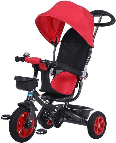 Tu satisfacción es nuestro objetivo Fenfen Triciclo para Niños Bicicleta 1-6 1-6 1-6 años Cochecito para bebés Bicicleta para Niños Carrito de bebé, rojo, azul, 85  50  100cm (Color   rojo)  nuevo sádico