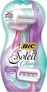 BIC Soleil Glow Women's Disposable Razor, Pack of 72
