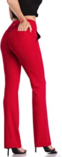 DAYOUNG Womens Bootcut Yoga Pants High Waist Flared Long Bootleg Trousers for Running Pants