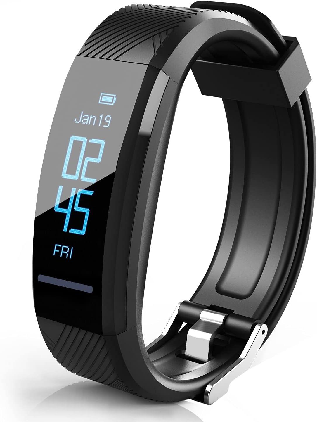 Pulsera de fitness, rastreador de fitness, monitor de frecuencia cardíaca, resistente al agua, IP67, reloj inteligente, rastreador de actividad, reloj deportivo, SMS, SNS,Whatsapp, alarma de vibración