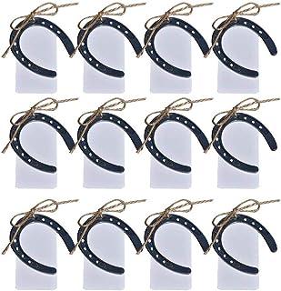 Awtlife 24 herraduras de la suerte de hierro fundido estilo vintage para bodas, regalos, fiestas, decoración