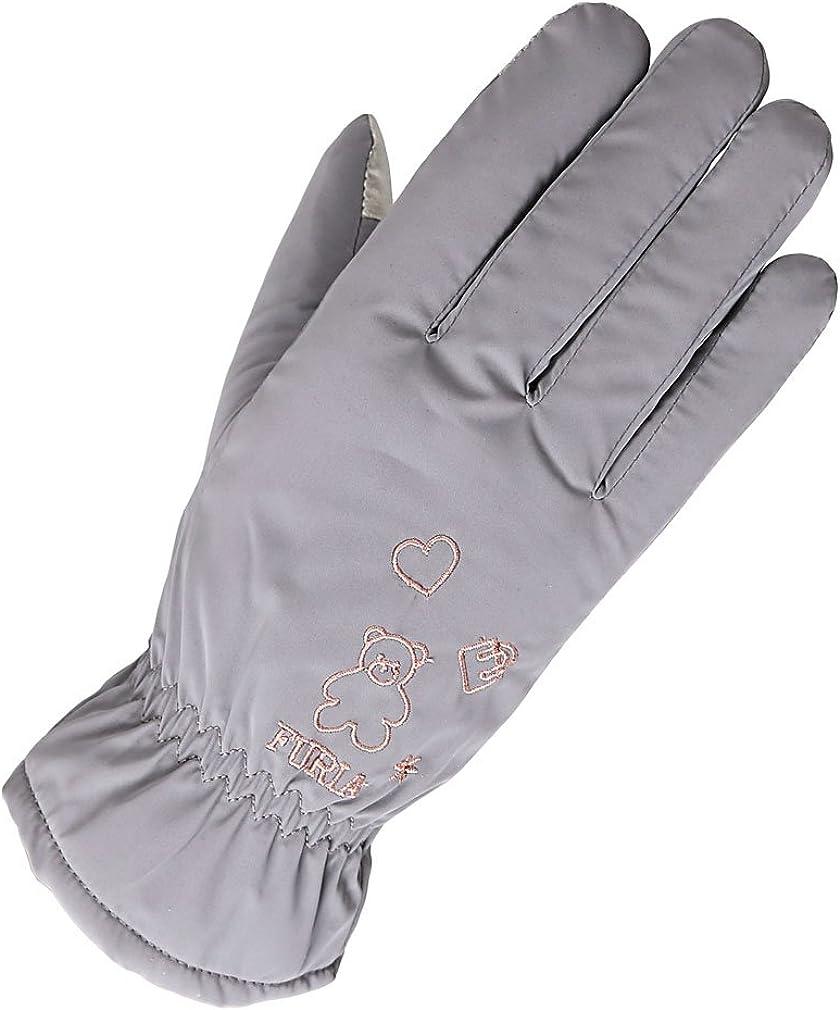 Womens Winter Outdoor Touchscreen Finger Gloves Thermal lovely Heart Bear Patterns