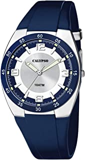 Calypso street life Mens Analog Quartz Watch with Rubber bracelet K5753/2