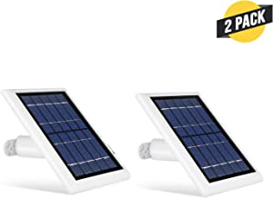 Wasserstein Solar Panel Compatible with Ring Spotlight Cam Battery & Ring Stick Up Cam Battery (2 Pack, White)