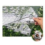 Lona Impermeable Transparente con Ojales, Resistencia Desgarro En PVC for Invernadero Jardín Toldo de Planta Mallas Anti-heladas, 400 G/M² LINLINZ (Color : Claro, Size : 2.4Mx3M)