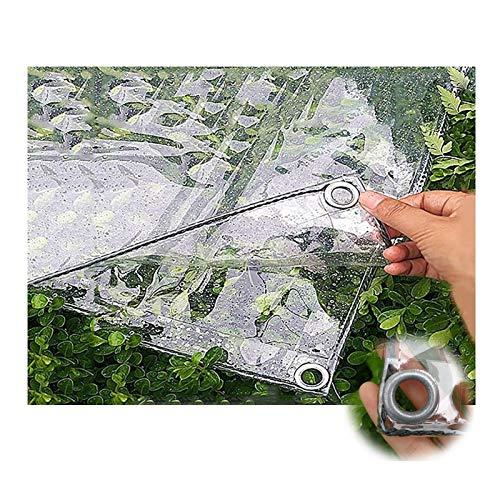 Lanbent Telone Telo Trasparenti, Impermeabile All'aperto PVC per Copertura Antipioggia Balcone della Finestra, Distanza del Foro 50 CM