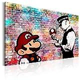 murando - Bilder Banksy Super Mario Mushroom Cop 120x80 cm Vlies Leinwandbild 1 TLG Kunstdruck...