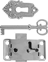 Angoily 2 Sets Kabinet Kast Meubels Antieke Decoratieve Slot Case Box Slot Met Sleutel Zilver