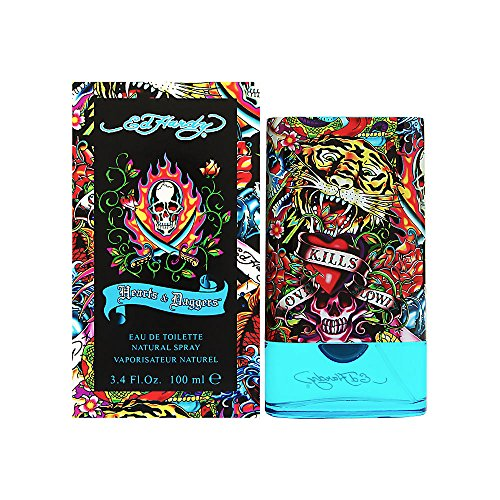 Ed Hardy Hearts & Daggers Men, Eau de Toilette, 100 ml, per stuk verpakt (1 x 100 ml)