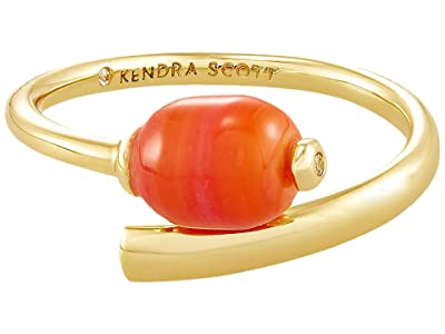Kendra Scott Demi Wrap Ring (Gold Papaya Mother-of-Pearl) Ring