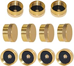 Beduan Solid Brass Refill 1 LB Propane Cylinder Cap Camping Gas Tank Caps (Pack of 11)
