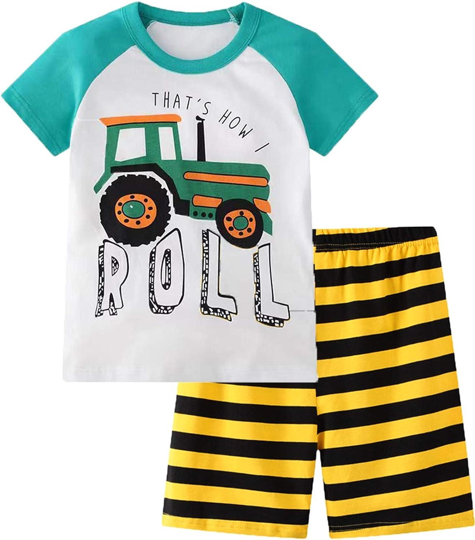 Little Boy Short Pajamas Sets for Toddler Sleepwear Summer 2 Piece kids Pjs 2-7T