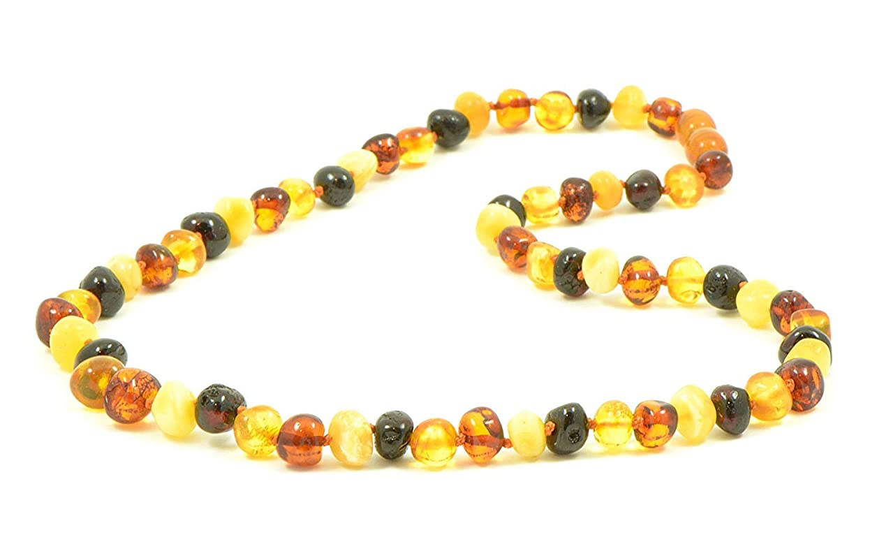 フェローシップミシン豆(50cm) - AmberJewelry Baltic Amber Necklaces for Adults - 46cm - 50cm Made from Authentic Baltic Amber Beads - Lemon Colour (50cm)