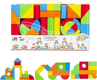 comprar comparacion deAO Bloques de Construcción Gomaespuma Juguete para Aprendizaje Creativo Infantil Conjunto de Cubos Multicolores 131 Piezas
