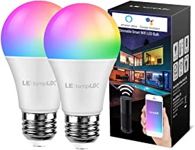 Smart LED Light Bulbs, LampUX WiFi Bulbs, Works with Alexa and Google Home, Color..
