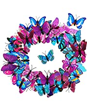 36 Pieces Butterfly Hair Clips Colorful Butterfly Barrettes 3D Valentine's Day Butterfly Hair Clips for Women Party Favors