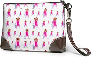 Guinea Pig Wearing A Pink Bunny Costume Travel Toiletry Bag Cosmetic Make up Organizer for Women and Girls