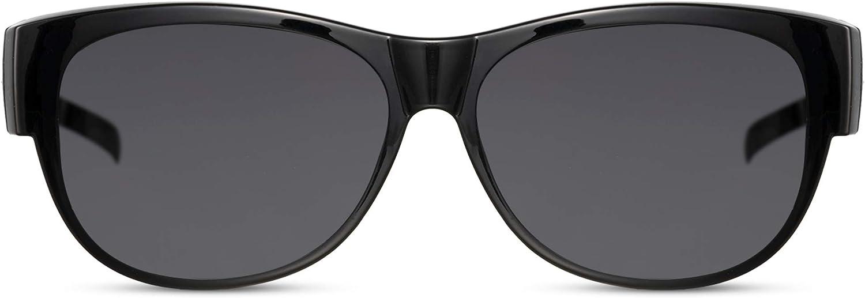 Cheapass Gafas de sol Polarizadas Superpuestas Se ajustan en Todas las Gafas Graduadas Normales Estilo Negro y Marrón con protección UV400, Hombres & Mujeres. Perfectas para Conducir, Pasear etc