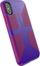 Speck Products CandyShell Grip iPhone Xs/iPhone X Case, Ultraviolet Purple/Ruby Red