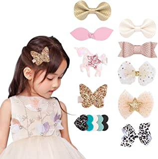 Baby Girl Nylon Headbands Hair Clips Barrettes Hair Bands Bows Hair Accessories for Baby Girls Toddlers Newborn by Secarond