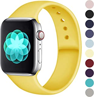ilopee Band Compatible with Apple Watch 40mm 44mm 38mm 42mm, Waterproof Durable Silicone Sport Strap for iWatch Series 5 4 3 2 1 for Women/Men, S/M M/L