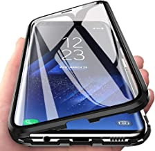 360° Full Body Case for Huawei Honor 8X Max Case,[Front and Back of Clear Touchable Strong HD Ultra-Thin Tempered Glass] with Magnetic Metal Frame Adsorption Protection Cover