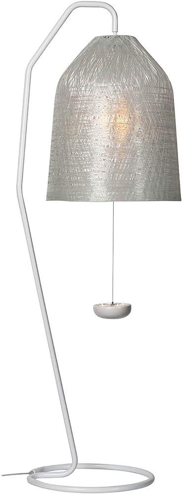 Karman black out, lampada da terra con stelo e paralume in vetroresina trasparente da esterno HP1012T EXT