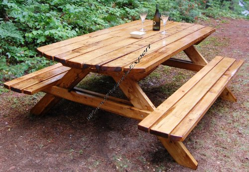 PICNIC TABLE W/ BENCHES Paper Plans SO EASY BEGINNERS LOOK LIKE EXPERTS Build Your Own FAMILY SIZED FOR…