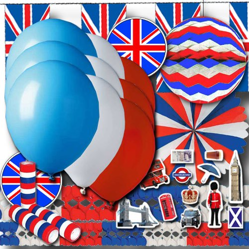 Großbritannien Partydeko Grundausstattung