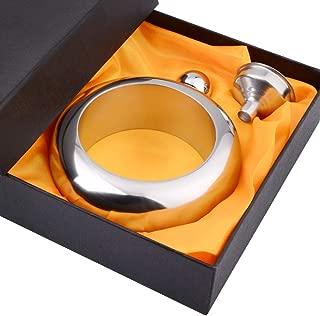 CCJK Liquor Flask for Women with Funnel – Stainless Steel Bangle Bracelet Flask..