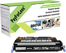 PayForLess Compatible for HP 501A Q6470A Black Toner Cartridge for HP Color Laserjet 3600n 3800n 3800dn cp3505 cp3505n cp3505dn
