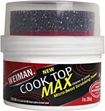 Weiman Cooktop Cleaner Max - 9 Ounce - Easily Remove Burned-On Food, Grease and Watermarks, Leaving Your Glass Cook Top Sparkling