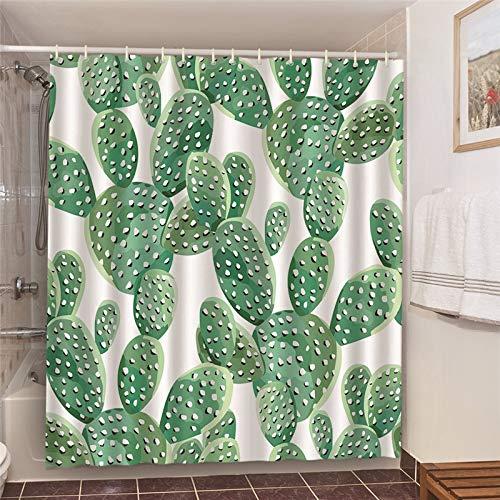 XCBN Cortinas de baño de crisantemo Blanco, Cortina de Ducha de Flores Rosadas, decoración del hogar, Cortina Impermeable 3D, Tela Lavable A4 90x180cm