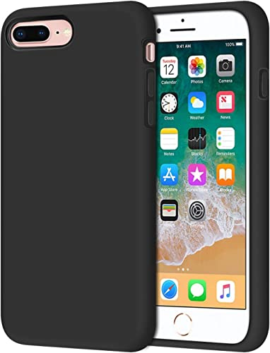 Anuck iPhone 8 Plus Case, iPhone 7 Plus Case, Soft Silicone Gel Rubber Bumper Case Microfiber Lining Hard Shell Shock...