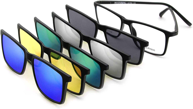 BAUHAUS Magnetic Clip on Sunglasses Men Women for Indefinitely Max 85% OFF UV Polarized