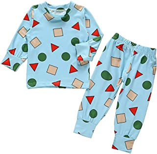 Infant Kid Baby Clothes Set, Baby Boys Girl Cartoon Print Tops Pants Pajamas Sleepwear Christmas Outfit