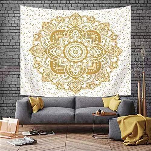 Tapestry Tapiz Pared Decoracion Serie Mandala flor 108 /150x200cm Colgante de pared Ropa de cama Dormitorio Decoración Estera de yoga Alfombras Manta de playa Tarot Hippie indio Boho Pavo real