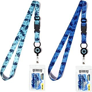 Cruise Lanyards, Adjustable Lanyard with Retractable Reel, Waterproof ID Badge Holder for All Cruises Ships Key Cards, 2pack