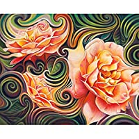 DIY5D石絵クロスステッチ抽象花モザイクダイヤモンド刺繡刺繍パターンラインストーンキット40x50cm
