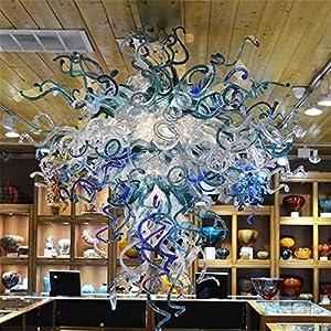 SHIJING Lámparas de Cristal Antiguo al por Mayor Lámparas Sala de Estar Luces Pendientes Veneciana de Murano de Cristal en BusinessW100cm H100cm