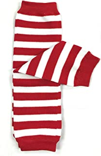 red and green striped leg warmers