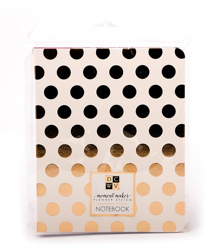 DCWV Moment Maker Designer Chipboard Notebook Gold Dots