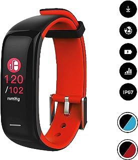 comprar comparacion novasmart - Reloj deportivo runR II con correa inteligente y pantalla en color, con registro de frecuencia cardíaca y pres...
