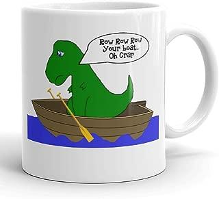 Funny Humor T Rex Dinosaur Novelty Pun Coffee Tea Mug 11 ounce