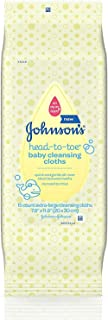 Johnsons Head-To-Toe Baby Cleansing Cloths 15 ea (12 Pack)