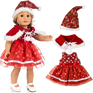 YKARITIANNA Merry Chirstmas Party Cute Clothes Dress Hat for 18 Inch American Boy Doll Accessory Girl Toy for Gift