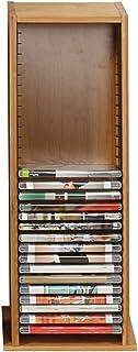 Estante del Almacenamiento del Disco, Caja de Almacenamiento de la Oficina del hogar del DVD del CD de bambú del Tenedor d...